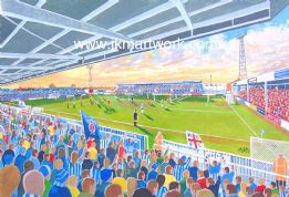 Hand Painted original of victoria park hufc